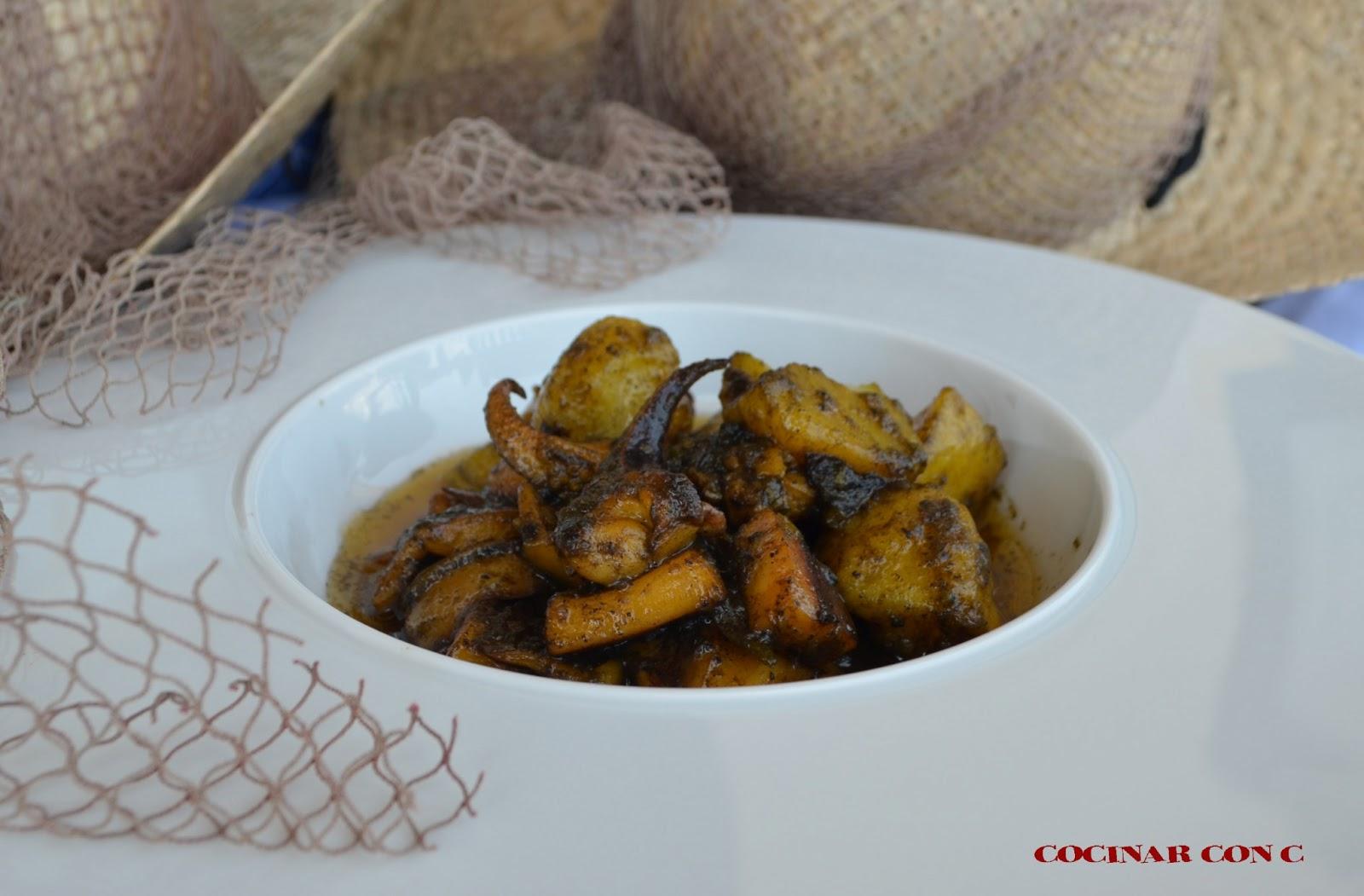 Cocinar Con C Sepia Con Patatas Y Pimiento Verde