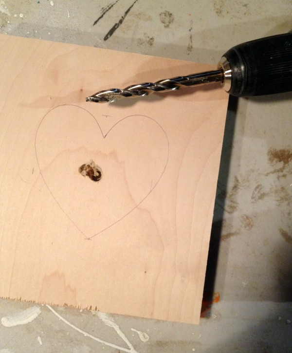 plywood heart shape cut out
