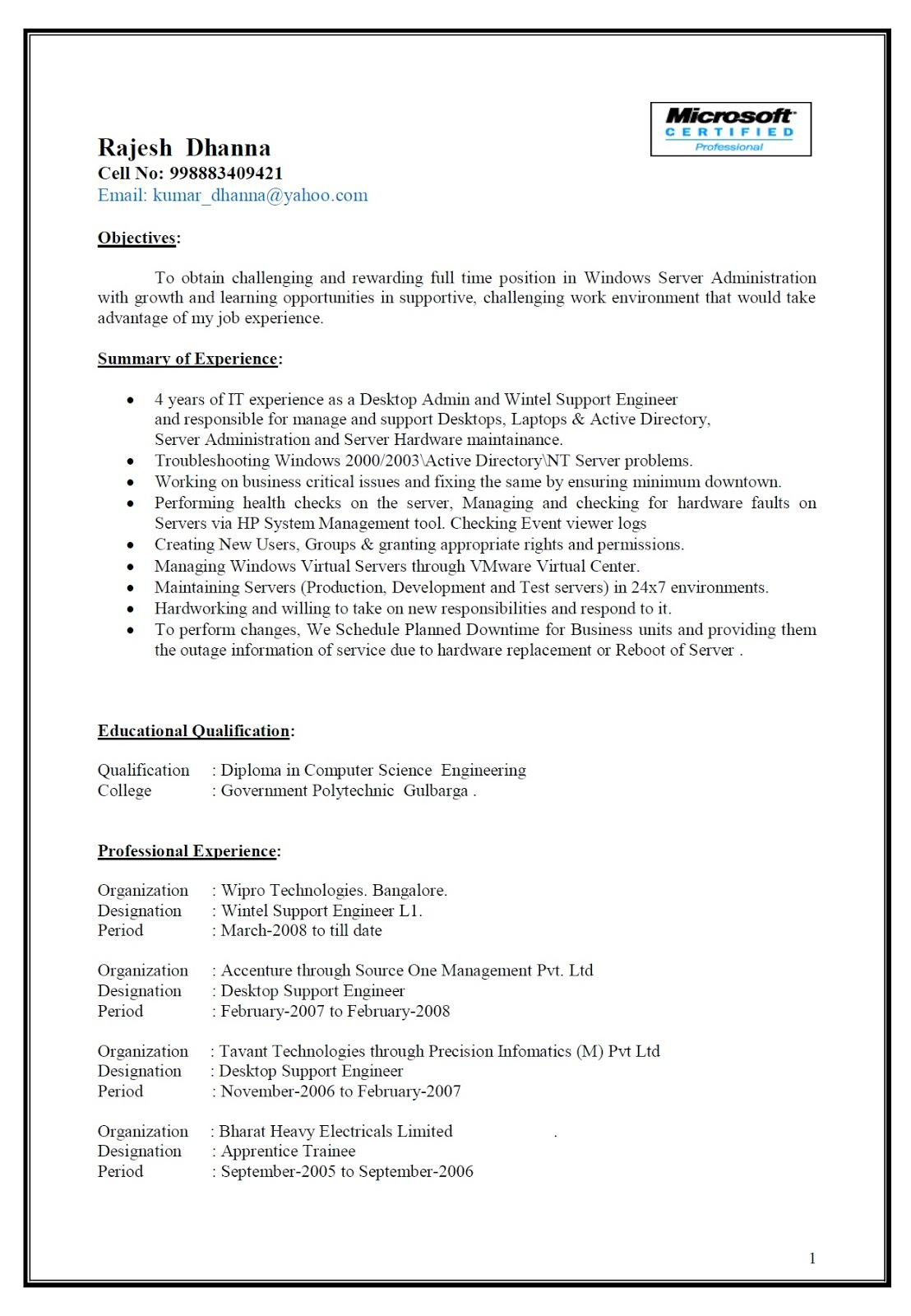 Free Resume Biodata C V Download Download Resume