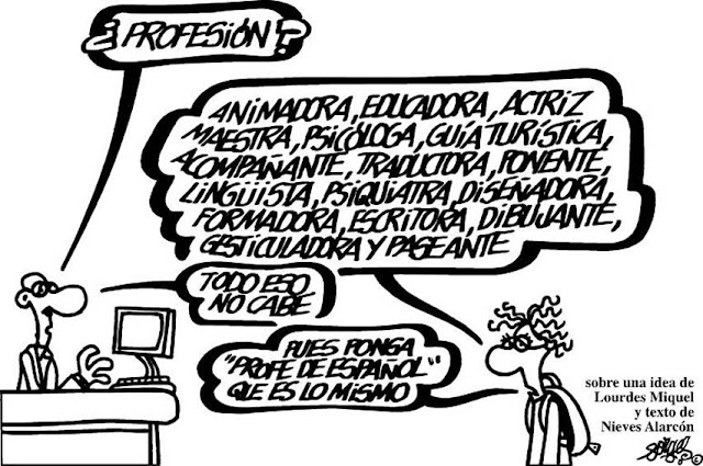 Chiste de Forges sobre los profesores de español