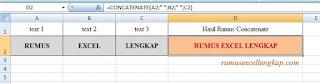 contoh 2 rumus concatenate