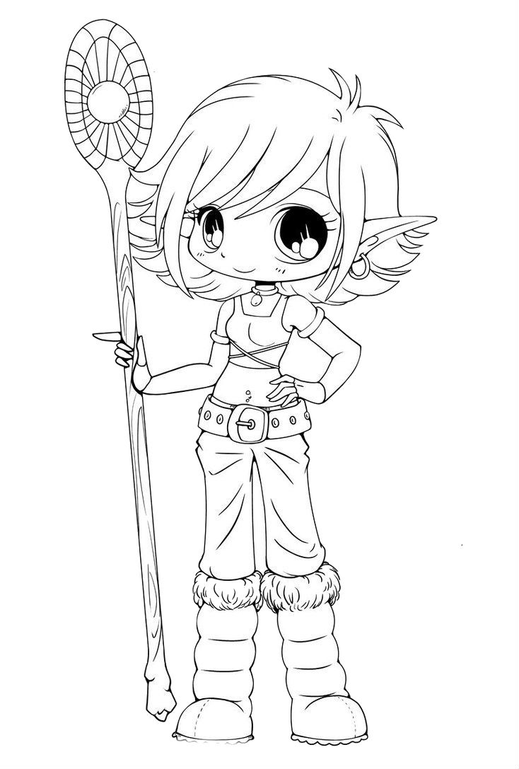 Fantasy Elf Coloring Pages | Bgcentrum
