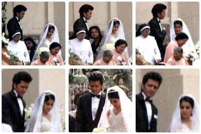 Actress Genelia and Riteish marriage photos
