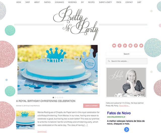 Chapéu de Papel feature on Pretty My Party