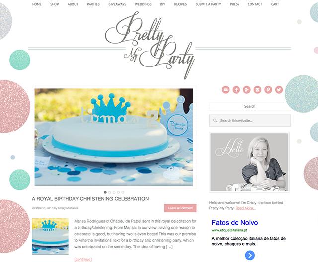 Chapéu de Papel feature on Pretty My Party