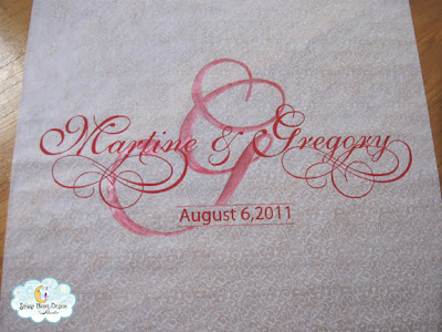Just finished up this personalized aisle runner for Heavenly Weddings