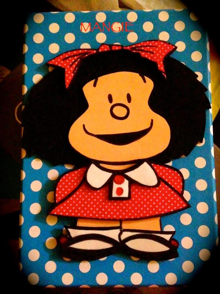 Caja decorada con Mafalda