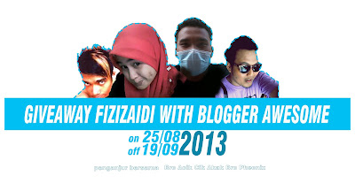 Segmen, Giveaway, fizizaidi With Blogger Awesome, blog aku penghibur