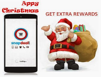 Snapdeal Appy Christmas:  Get Free goodies and Extra Rewards Everytime.