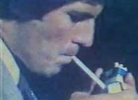 Propaganda do cigarro Minister em 1976 com cenas de aventura e romantismo.