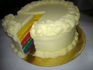 Rainbow Cake + Italian B/Cream
