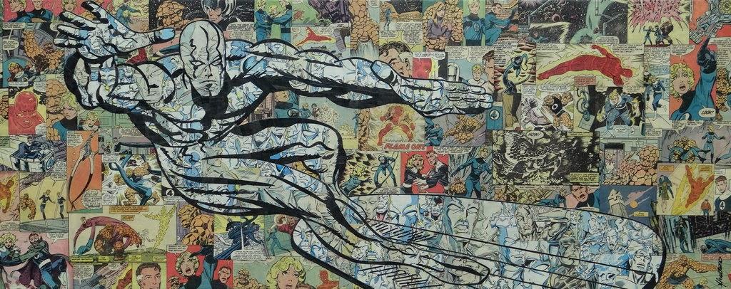 12-Silver-Surfer-Mike-Alcantara-Comic-Collage-Art-www-designstack-co