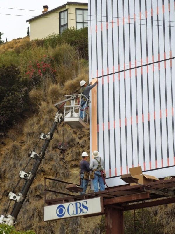 Light Tape billboard installation Sunset Strip