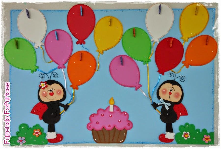 Fazendo Fofurices : Painel Aniversariante joaninha