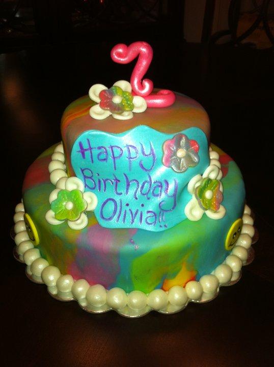 Have Your Caked Eat It Too Retro Tie Dye Birthday Cake