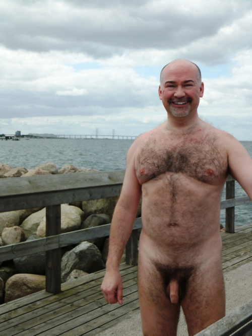sugar dad - hairy cock - nudist - outdor gay dad