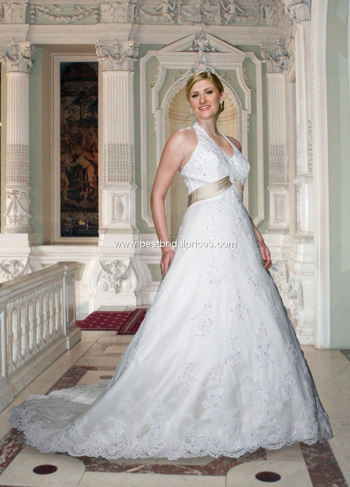 Plus Size Wedding Dresses With Color Accents Viewing Gallery