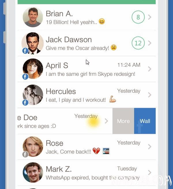 WhatsApp and Facebook Collaboration in Mobile App