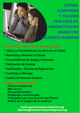 CAPACITACION EN MARKETING Y VENTAS Y ATENCION AL CLIENTE