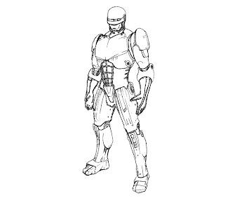 #10 Robocop Coloring Page
