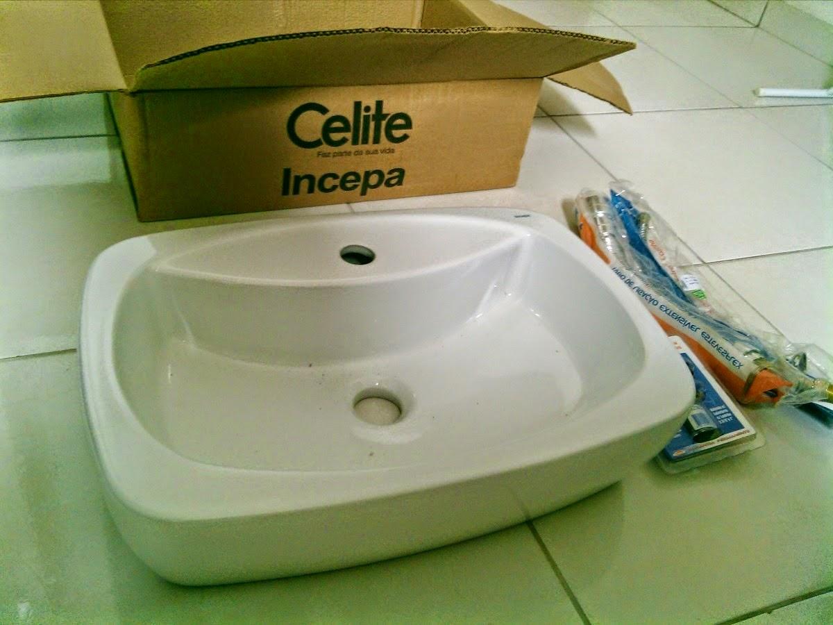 Edificando meus sonhos! Meu retorno e as louças do banheiro -> Cuba Para Banheiro De Apoio Thema Biscuit Incepa