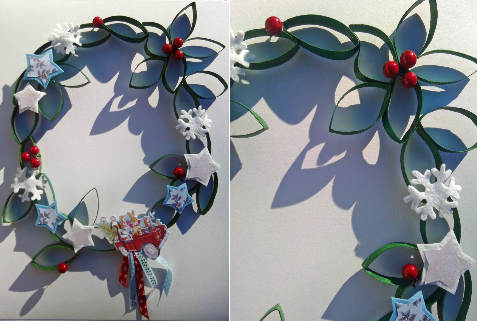 Fraizycircus diy couronne de no l en papier toilette for Decoration de noel en rouleau papier toilette