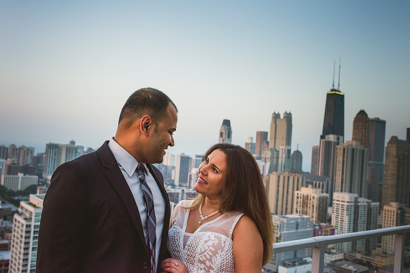 Chicago Rooftop Creative Engagement Photo