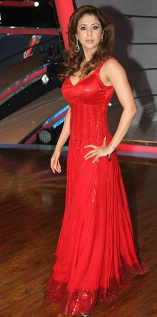 Urmila Matondkar in Red Long Skirt showing her figure