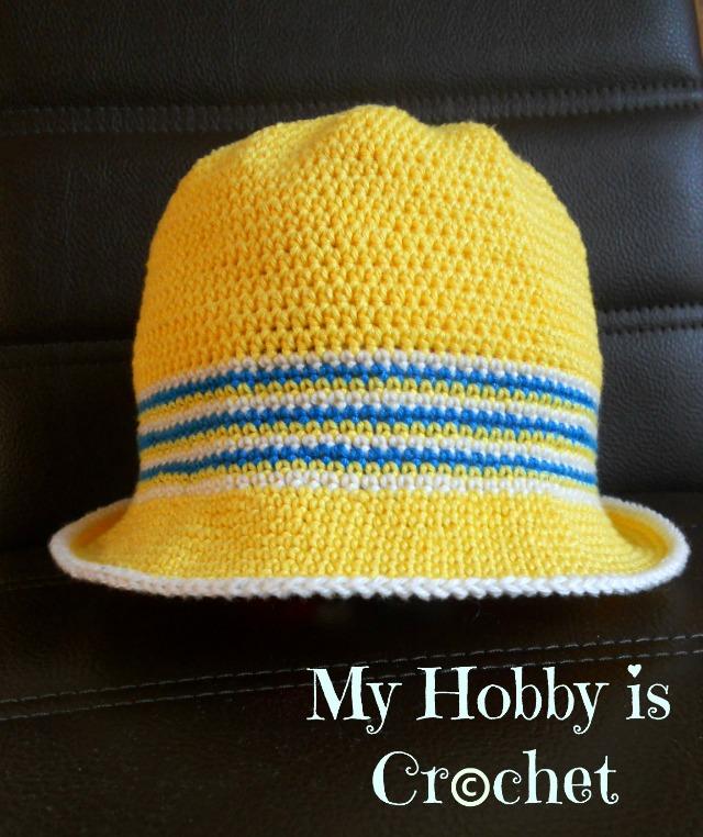 My Hobby Is Crochet Cotton Sun Hat Ocean And Sun Free Crochet