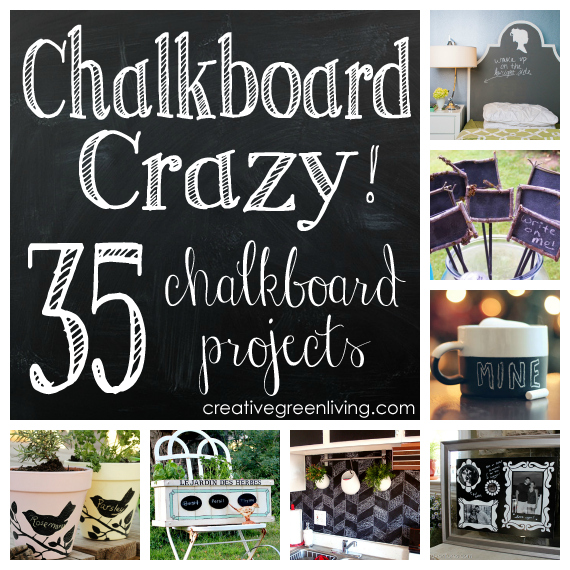Chalkboard crazy 35 diy chalkboard projects you 39 ll love for 101 crazy crafting ideas