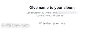 Information about shared Facebook album.