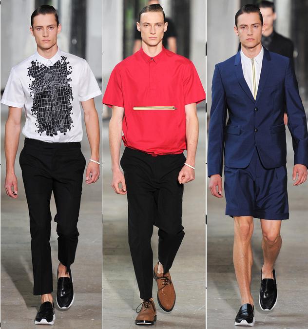 kris van assche mens spring 2014 sportswear shirts