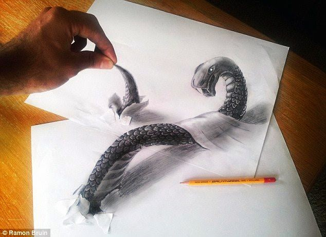 UNBELIEVABLE!!! ARTIST CREATES AMAZING 3D DRAWINGS WITH JUST A PEN AND PAPER!