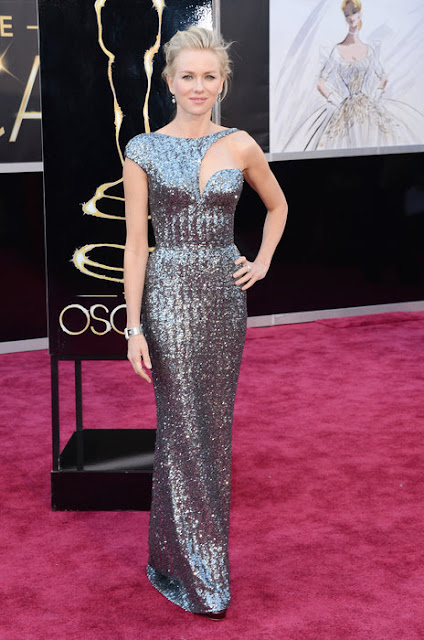 Oscar's best dressed is Naomi Watts wearing a Armani Privé dress
