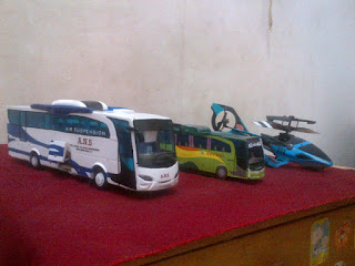 cara membuat miniatur bus dengan bahan kertas karton