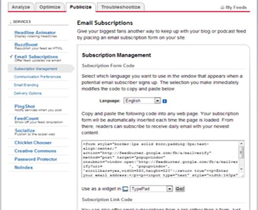 feed code