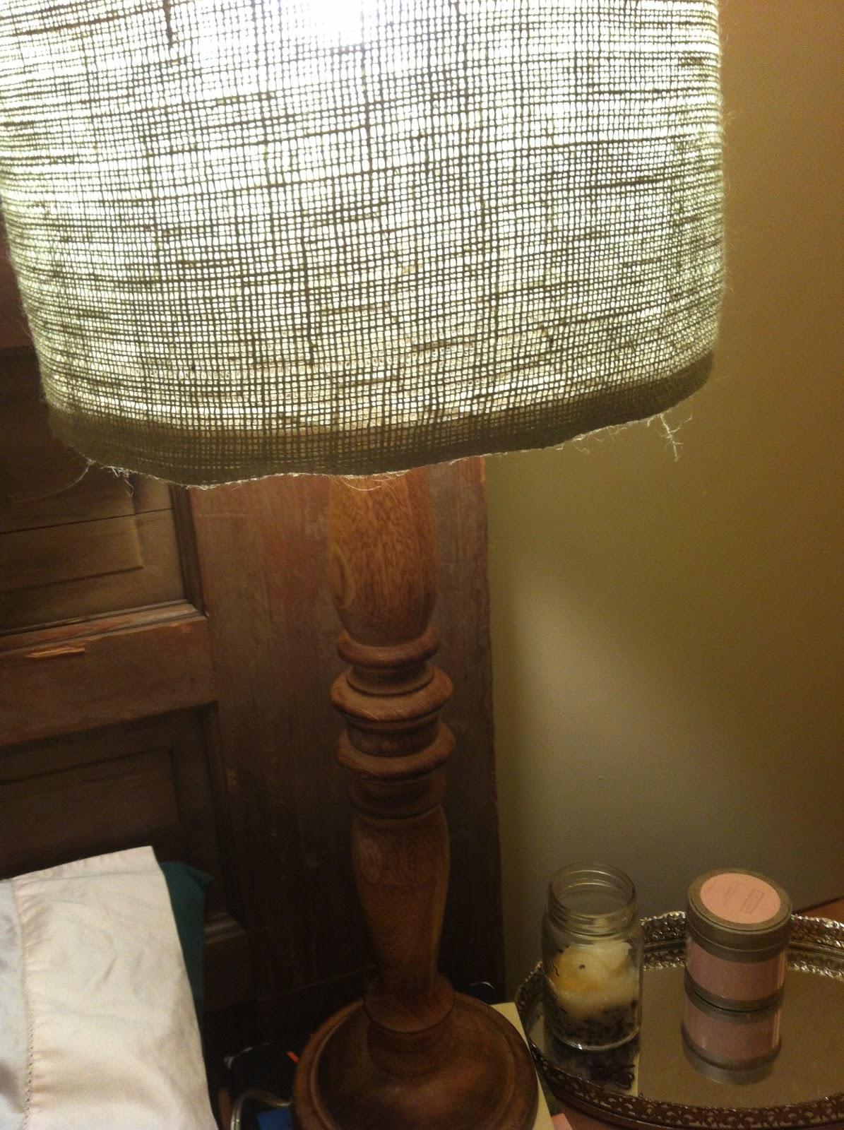 The Adventures of Josh and Haley: DIY Lamp Shade = Temporary FAIL