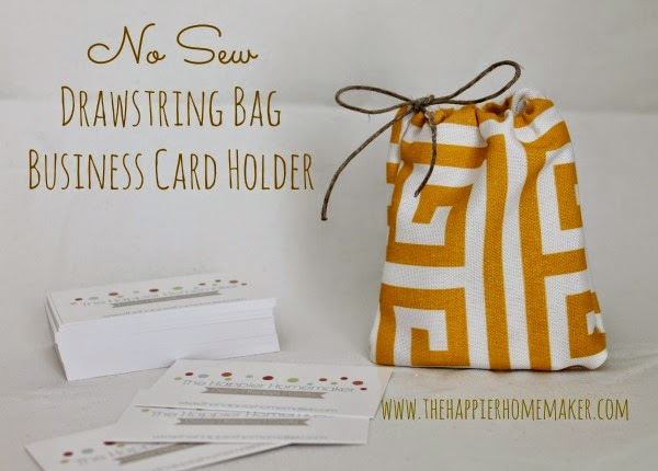 http://www.thehappierhomemaker.com/2013/07/no-sew-drawstring-bag/