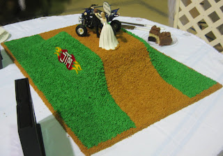 4-Wheeler Themed Groom's Cake - Angled View 1