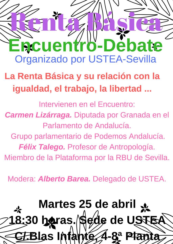 RENTA BÁSICA UNIVERSAL: Encuentro-Debate: Carmen Lizárraga y Félix Talego.
