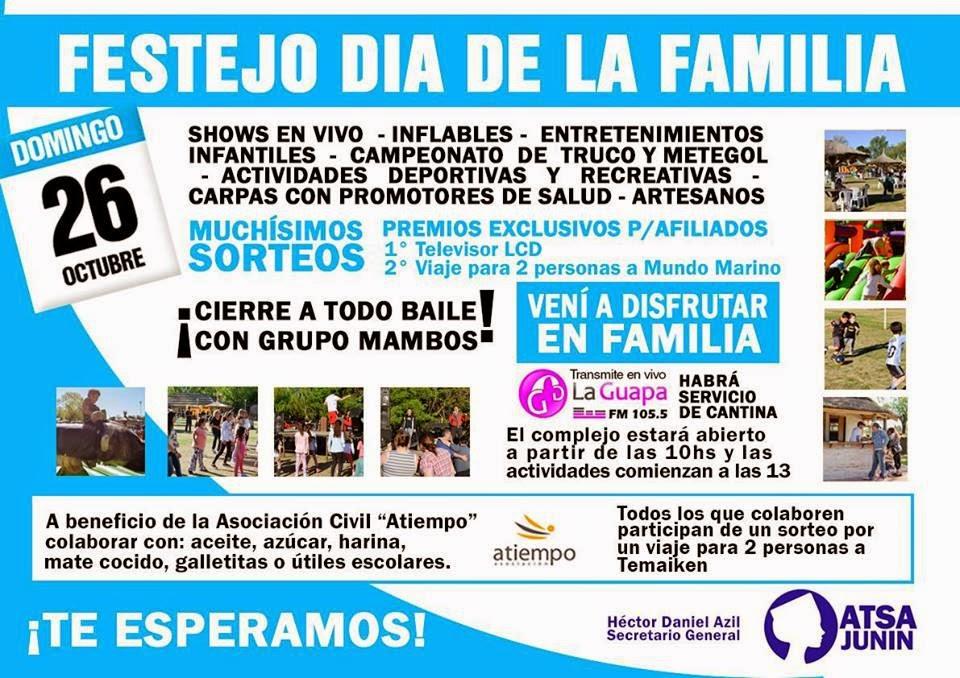 CONVOCATORIA DE ATSA JUNIN A LA FAMILIA