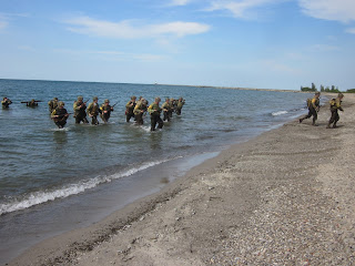 D-Day WWII Reenactment, Normandy Beach Landing