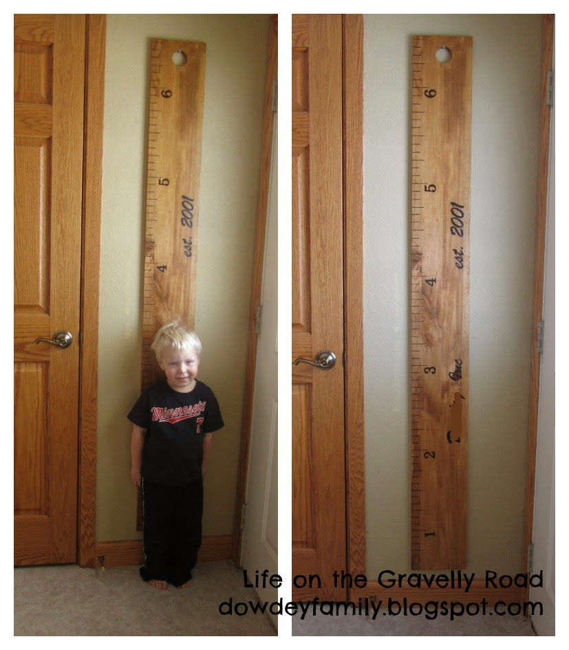 wooden height ruler