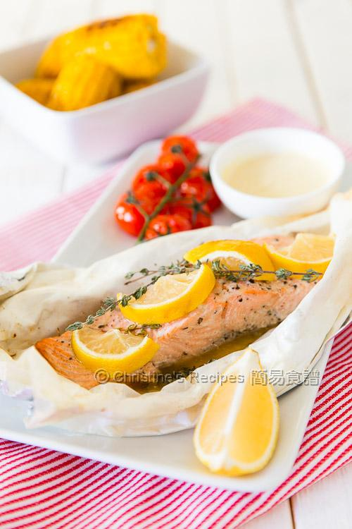 焗紙包三文魚 Baked Salmon Parcel01