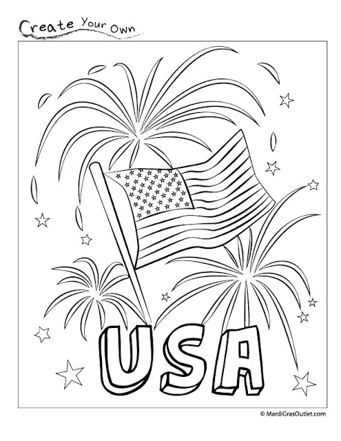 firework coloring pages eagle - photo#27