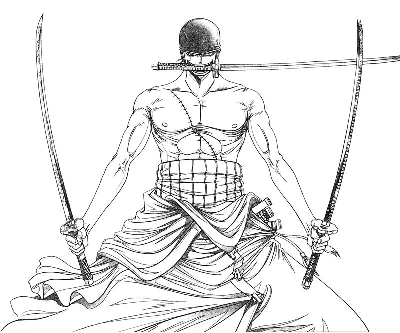 Zoro  Coloring Page