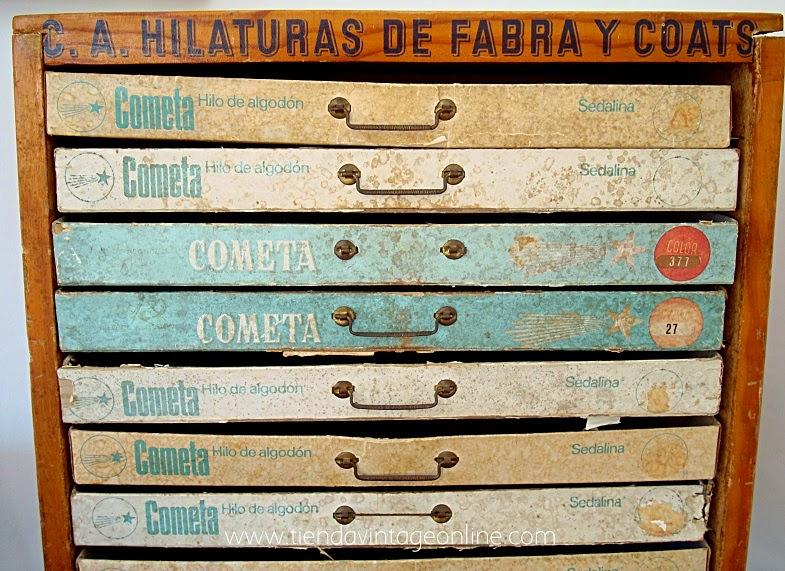 Cajas vintage expositor. Cajoneras antiguas