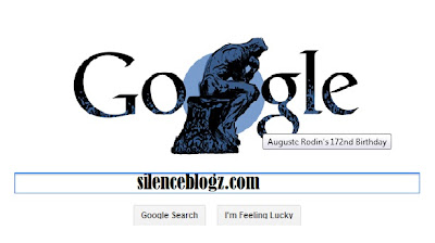AUGUSTE RODIN 172nd BIRTHDAY - GOOGLE DOODLE