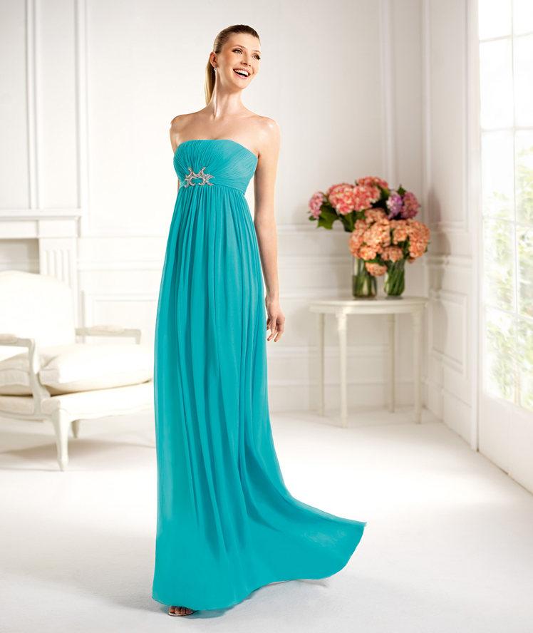 Vestido de noche para boda 2013