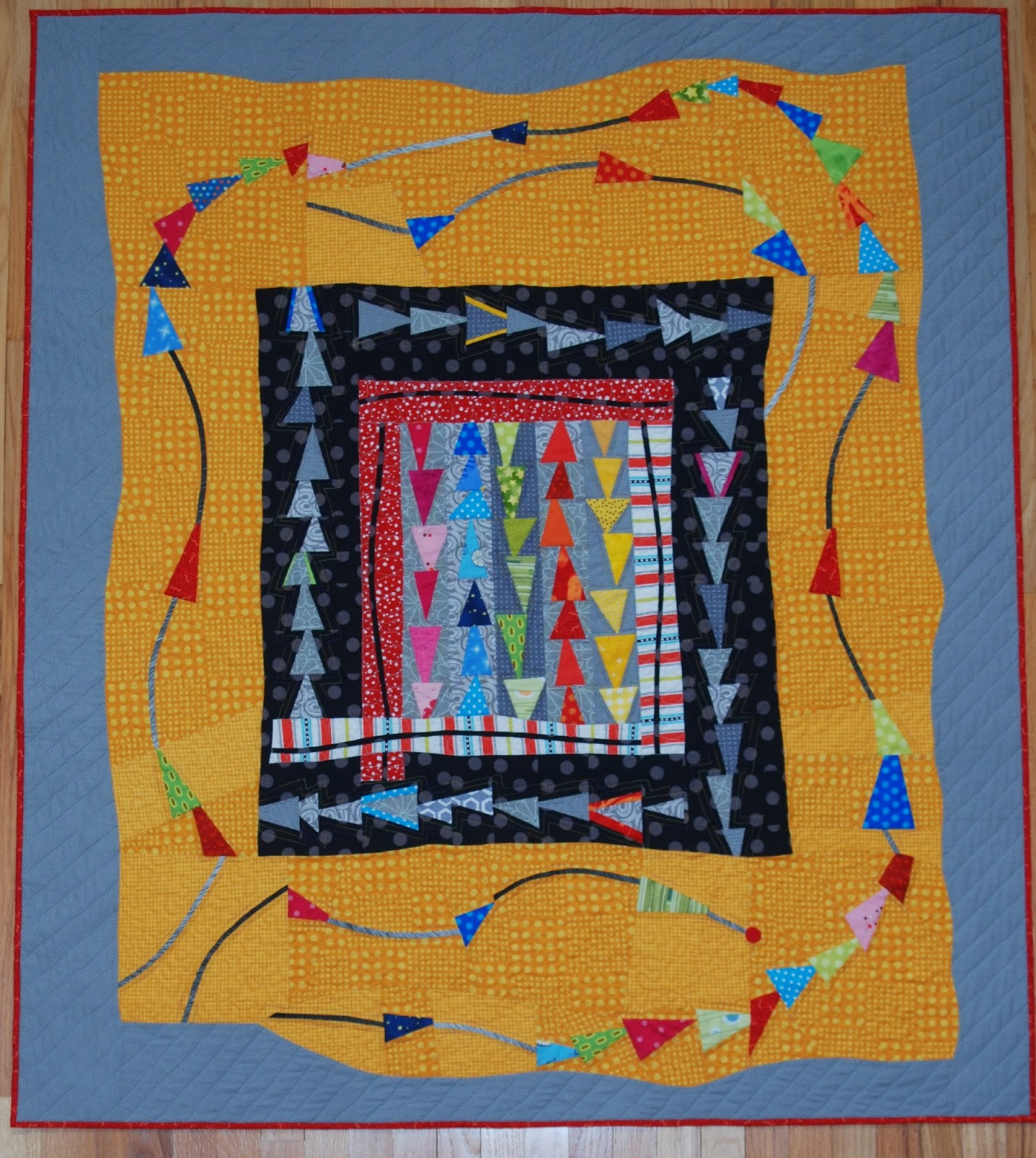 Sunday Farming Quilter My Modern Quilt Flying Kite Tails Will Be